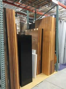 Cubicles and desks in storage